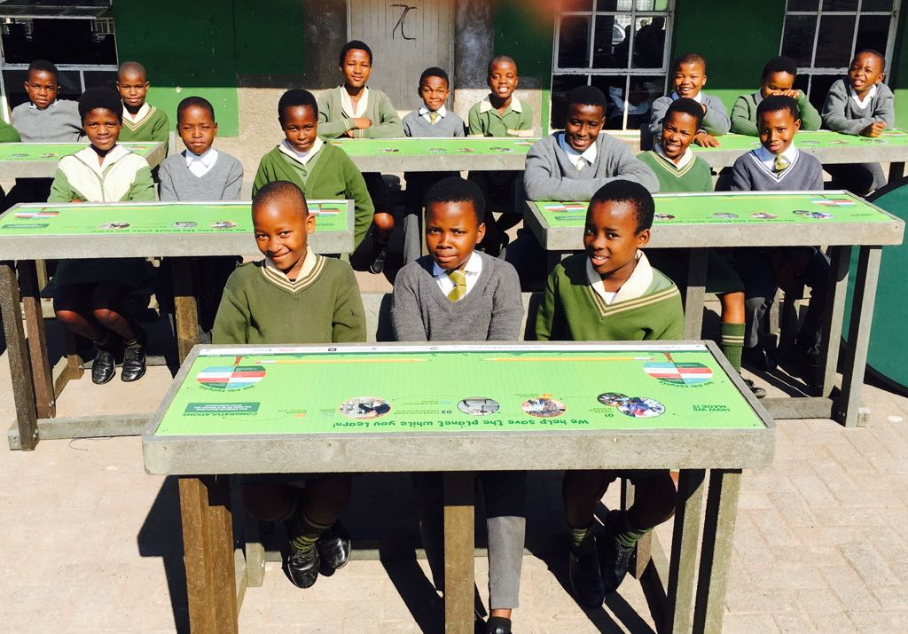 Bright Green Desks for a Brighter Future