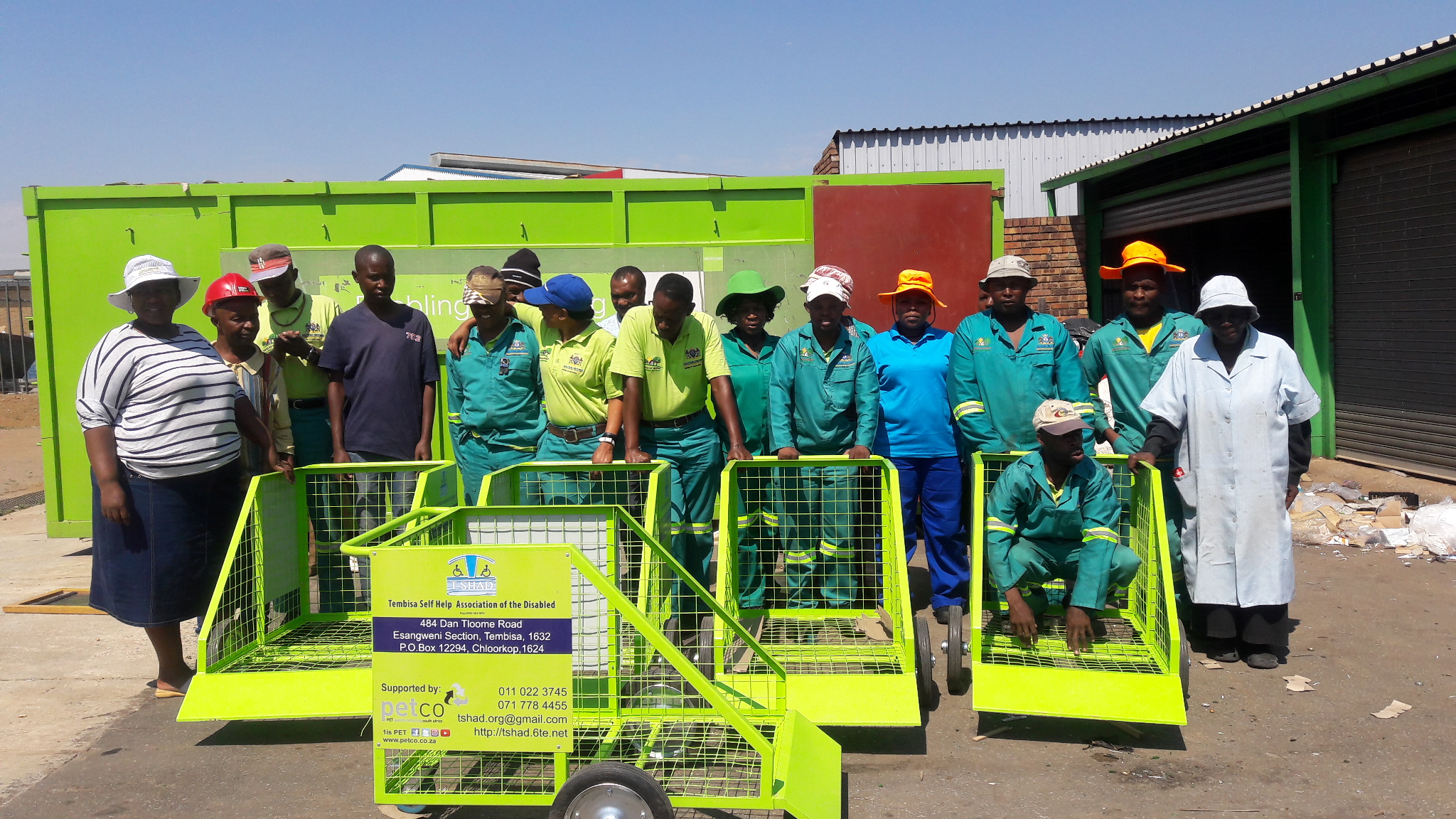 PETCO teams up with T-SHAD to provide training, PPE and Baling Machine