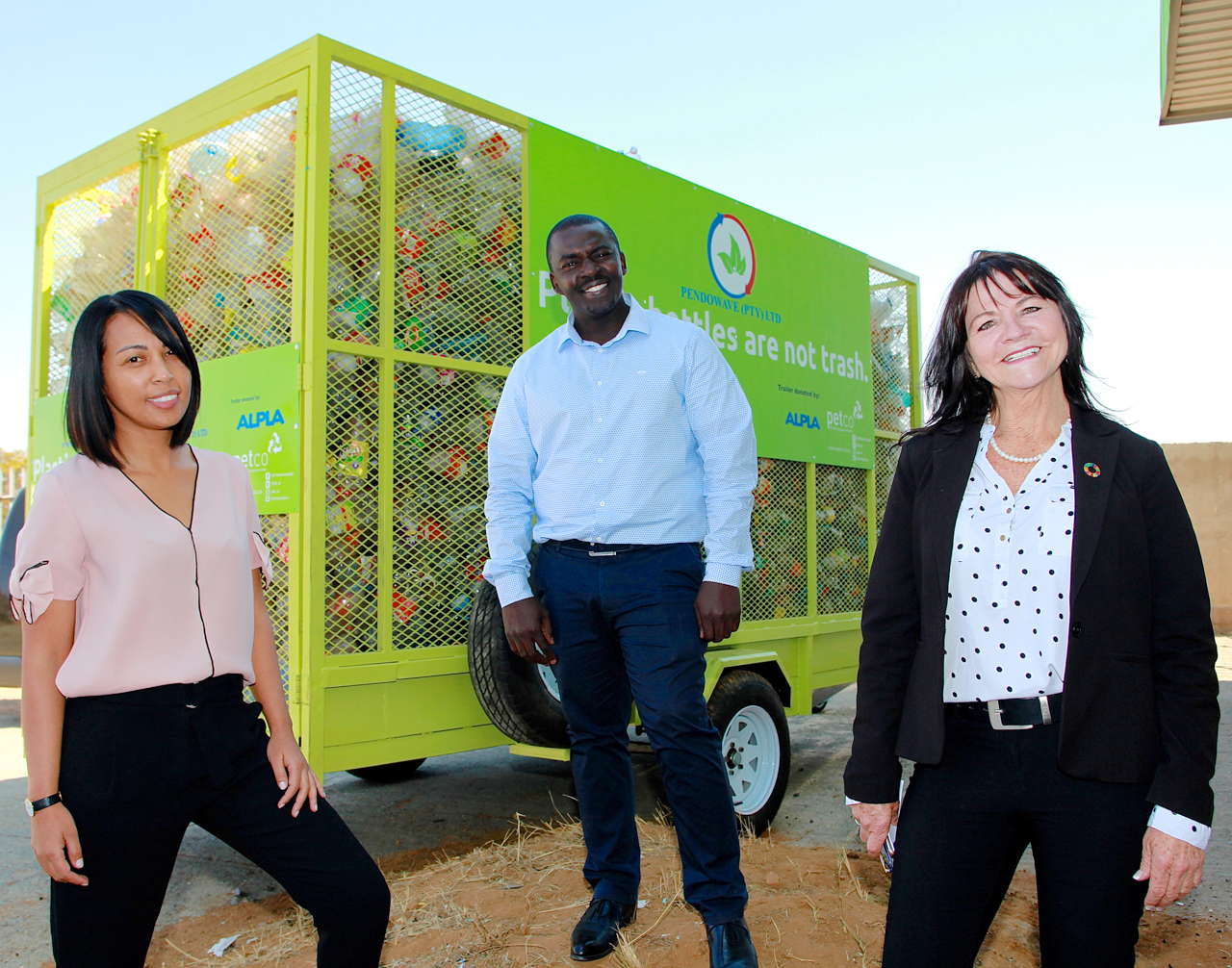 Soweto recycling entrepreneur cleans up with equipment boost